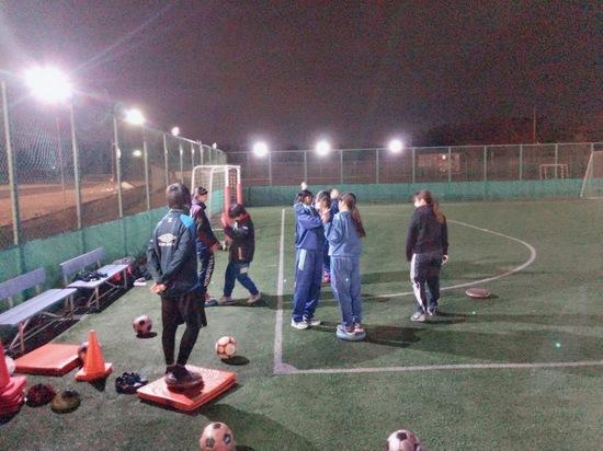 女子サッカーチームシンシア練習